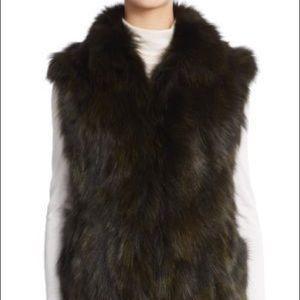 Adrienne Landeau fox fur vest